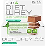 PhD Nutrition Diet Whey Bars, Chocolate Mint, Pack of 12 x 50g