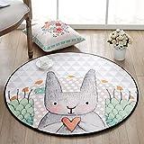 WEI Teppich runden Matratzen Cartoon Kinder 'S Matratzen Schlafzimmer Zimmer Nachttisch Teppich...