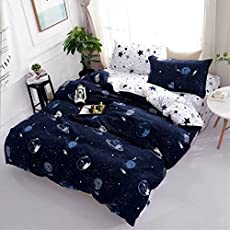 Shopcrats Kids Double Bed Cotton Bedsheet with 2 Pillow Covers-Blue
