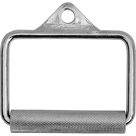 BodyRip Stirrup Handle-Impugnatura, effetto cromato, con impugnatura Multi Gym-Cavo di alimentazione a macchina, gabbia accessori, colore: argento