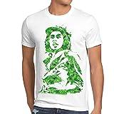 style3 Marley Hanf Herren T-Shirt Rasta musik jamaica gras bob reggae no woman dope, Größe:L