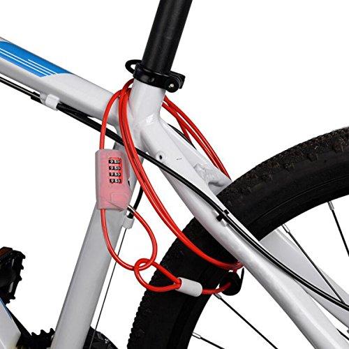 Serrure à Vélo Serrure Mot De Passe Bicyclette Moto Véhicules électriques équipement équitation D'extérieur