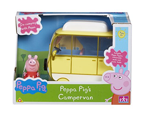 PEPPA PIG PEPPAS CAMPERVAN WITH PEPPA FIGURE & ACCESSORIES BY CHARACTER OPTIONS