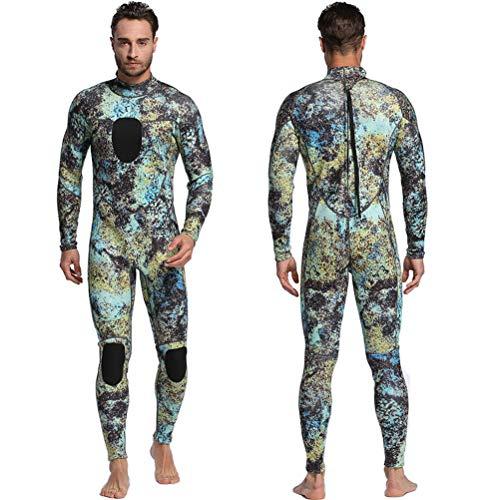 Neborn Scuba Tauchen Wetsuit Männer 3mm Tauchen Anzug Neopren Schwimmen Neoprenanzug Surf Triathlon Wet Anzug Badeanzug Voller Bodysuit Size L (C)