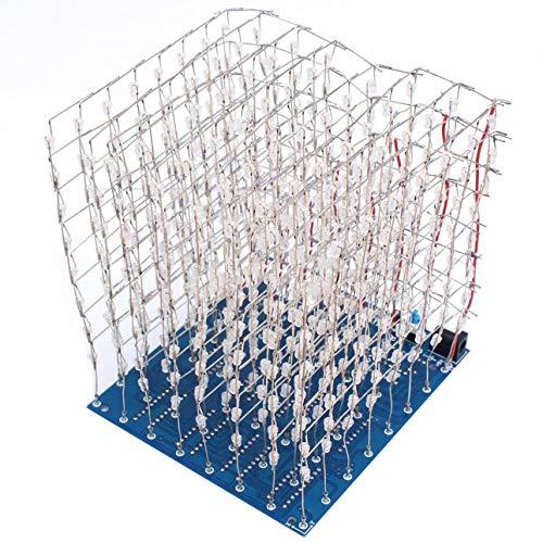 Ballylelly-3D 8 Lichtwürfel (Teile) Platine +60 s2 + 573 + 2803/CUBE8 8x8x8 3D LED + Informationen und S (3D8S) 3D LED Cube Blue Informationen Led