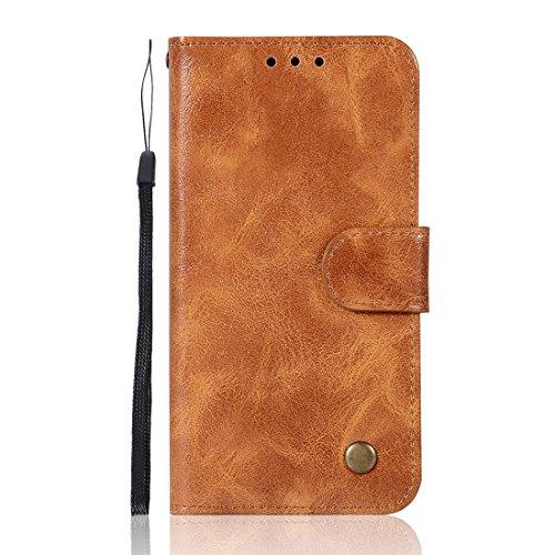 Chreey Samsung Galaxy S5 Hülle, Premium Handyhülle Tasche Leder Flip Case Brieftasche Etui Schutzhülle Ledertasche, Goldgelb