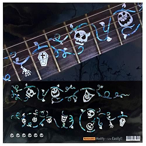 mit Totenkopf-Masken, Set Bundmarker, Inlay-Sticker für Gitarre ()