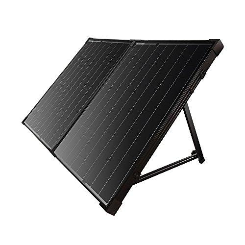 Renogy 12V Solarkoffer 2 x 50W (Ohne Laderegler) Solar Modul Zelle 100W Solarpanel Wohnmobil Solarmodul Solarzelle Camping Garten mit schwarzem Rahmen - Koffer Solar