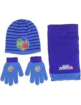 PJ Masks Conjunto de gorro, guantes y bufanda, diseño de PJ Masks