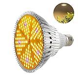 Pflanzenlampe LED 100W Pflanzenlicht Grow Lampe E27 Wachstumslampe Vollspektrum für Gewächshäusern Garten Innengärten GrowBox Zimmerpflanzen Hydroponische Pflanzen und Gemüse Aktualisierte Version
