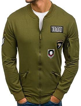 BOLF - Felpa - Pullover - Manica lunga – Maglione - Collo alto - Classic - Motivo - 1A1