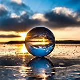 Hehilark Glaskugel Fotografenqualität 100mm Kristallkugel Glaskugeln Dekogut zum Fotografie Fotografieren Für Deko/Fotografie/Hause❤In Stock❤