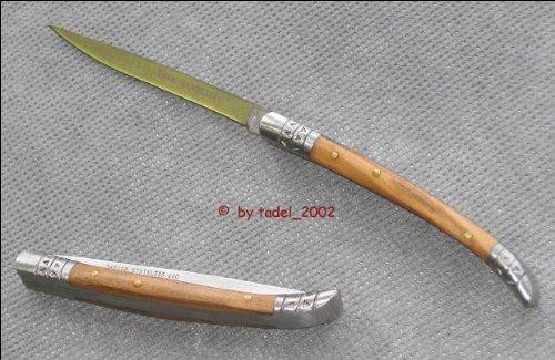 BANDOLERO-Messer, rostfrei, Olivenholz,rostfr. Backen,8 cm, Spanische Form