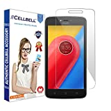 CELLBELL® Tempered Glass Screen Protector For Motorola Moto C Plus With FREE Installation Kit