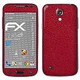 atFolix Samsung Galaxy S4 mini Skin FX-Leather-Red Designfolie Sticker - Feine Leder-Struktur