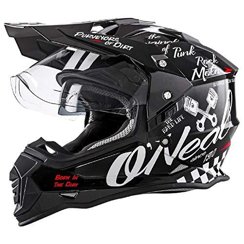 O'Neal Sierra II Adventure Torment Enduro MX Motorrad Helm schwarz/weiß 2018 Oneal: Größe: L (59-60cm)