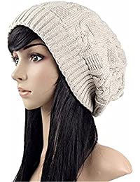 CDZZ - Gorro de lana de mujer - Accesorio de tendencia para el invierno 616e2b37225