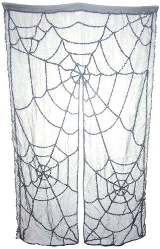 liger Deko Spinnen Vorhang Spinnweben Look mit Horror Spinnennetz Design Halloween Party Deko für Türen und Wand Monster Spinne (Mumie Halloween-tür)
