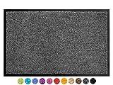 Primaflor - Ideen in Textil Schmutzfangmatte CLEAN – Anthrazit 60x90 cm, Waschbare, Rutschfeste, Pflegeleichte Fußmatte, Eingangsmatte, Küchenläufer Matte, Türvorleger für Innen & Außen