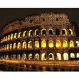 El Coliseo En Roma Dibujo De Diy Por Números Lienzo Pintado Para Sala De Estar 40X50CM