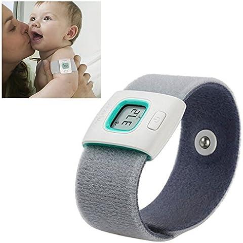 ownstyle4you Wristband Bluetooth 4.0 di Smart Monitor Termometro Termometri Assistenza sanitaria per bambini Bambini e sostenere i bambini per Android 4.3 Sopra e Telefono Apple iPhone
