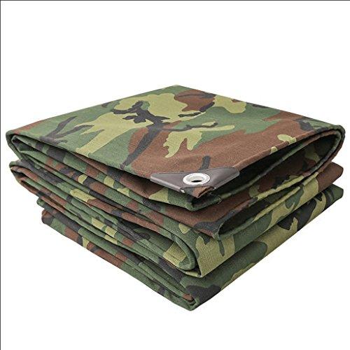 BJL Abdeckplane Camouflage Plane, Outdoor Camouflage Verdickung Sonnenschutz Sonnensegel Canvas Zelt...