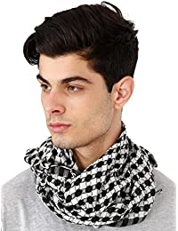 FabSeasons Black and White Checkered / Chexs Scarf Arafat, Desert Style for Men & Women, Size 80 * 80 cms