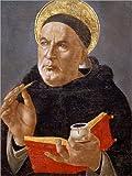 Posterlounge Leinwandbild 100 x 130 cm: Heiliger Thomas von Aquin von Sandro Botticelli/akg-Images - fertiges Wandbild, Bild auf Keilrahmen, Fertigbild auf echter Leinwand, Leinwanddruck