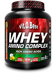 Vit-O-Best Whey Amino Complex, Proteínas, Sabor a Vainilla - 907 gr