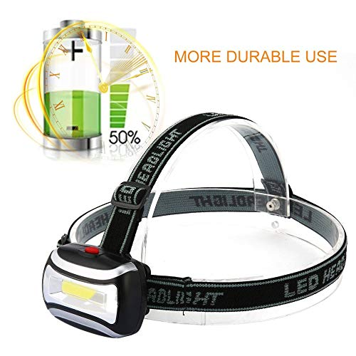 Linterna LED recargable de 2000LM Linterna Linterna Lámpara de luz de cabeza Durable impermeable linterna de pesca que acampa - Negro