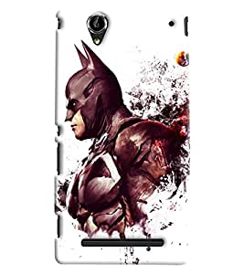 Blue Throat Batman Printed Designer Back Cover/Case For Sony Xperia T2