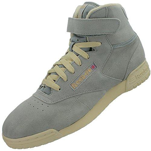 Reebok  EX-O-FIT CLEAN HI VINTAGE,  Sneaker a collo alto uomo Grigio (Grau/Grau)