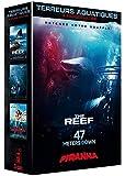 Coffret terreurs aquatiques 3 films : the reef ; 47 meters down ; piranha 3D