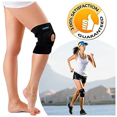 JIBOCA Kniebandage und Atmungsaktiver Knieschützer verstellbare Knieorthese für Damen und Herren