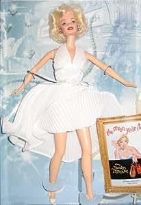 BARBIE MARILYN MONROE - poupée blonde - les légendes d'hollywood edition collector THE SEVEN YEAR ITCH (7 ans de réflexion) - robe blanche - mattel 1997