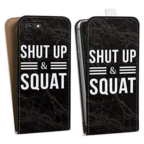 Apple iPhone X Silikon Hülle Case Schutzhülle Squat Fitness Statements Downflip Tasche weiß
