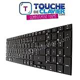 Clavier AZERTY Français Noir pour PC Portable Acer Aspire 5755 5830G 5830T E15 E17 E1-510 E1-510P E1-522 E1-522G E5-721 E5-731 E5-771 E5-771G ES1-512 ES1-711 E1-530 E1-530G E1-532 E1-532P E1-570 E1-570G