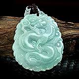 Zhiming Schmuck natürliche Burma Jade Yulong Marke Anhänger Jade Sternzeichen Drache Anhänger Jade