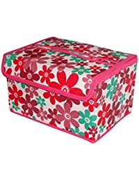 DIVYANA® Printed Foldable Wardrobe Organiser Regular Makeup Storage Jewellery Vanity Box Multicolor Kids Toy Box...