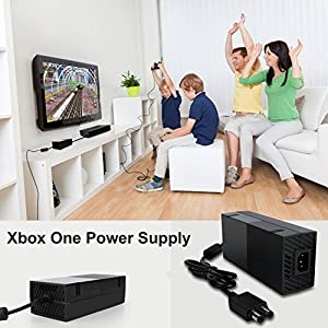 Xbox One Power Supply Brick, (QUITE VERSION) Xbox 1 Console AC Adapter Cable Replacement Kit, Auto Voltage 100-240V by YTEAM