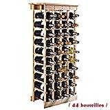 Étagère à vin Range bouteille Casier à vin porte-bouteille 40 bouteilles support
