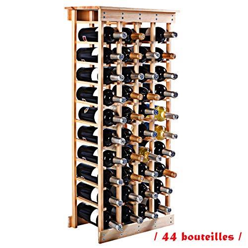 Blitzzauber24 Etagere A Vin Casier A Bouteille En Bois De Pin Robuste Modulable Rangement Pour 44 Bouteilles 46 5 X 27 5 X 113 Cm Tests Et Avis Maison Vinot