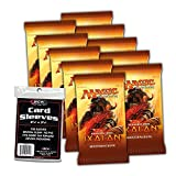 Magic the Gathering MTG Rivalen von Ixalan - 10x Booster Pack + 100 BCW Sleeves - Deutsche Ausgabe