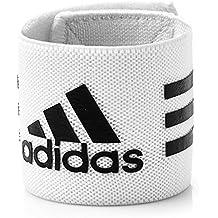 Adidas Ankle Strap - Tobillera elástica, color blanco (White/Black), talla única