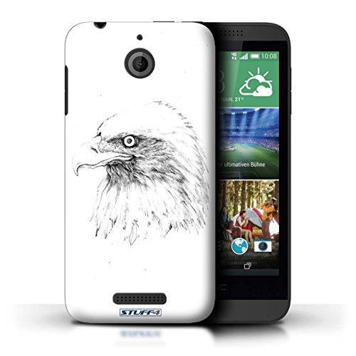 Kobalt® Imprimé Etui / Coque pour HTC Desire 510 / Aigle / Oiseau conception / Série Dessin Croquis Aigle / Oiseau