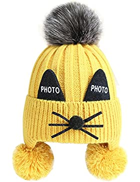 [Sponsorizzato]Cappello Lavorato a Maglia,Bonice Unisex Bambino Moda Autunno Invernale Cappellino con Cute Orecchie di Gattino...