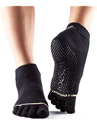 ToeSox - Ankle Full Toe Grip Non-Slip for Yoga - Pilates - Barre - Chaussettes à orteils séparés - Femme