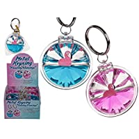 BARGAINS-GALORE NEW METAL KEYRING FLOATING FLAMINGO KEY CHAIN GIFT PARTY BAG FILLER ACCESSORIES