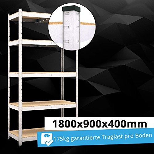 Panorama24 Lagerregal Regal Steckregal Kellerregal Werkstattregal Schwerlastregal Werkbank 875 KG Tragkraft Stecksystem