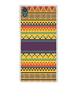 Fiobs Designer Back Case Cover for Sony Xperia Z5 :: Sony Xperia Z5 Dual 23MP (Multicolor Ethnic Design )